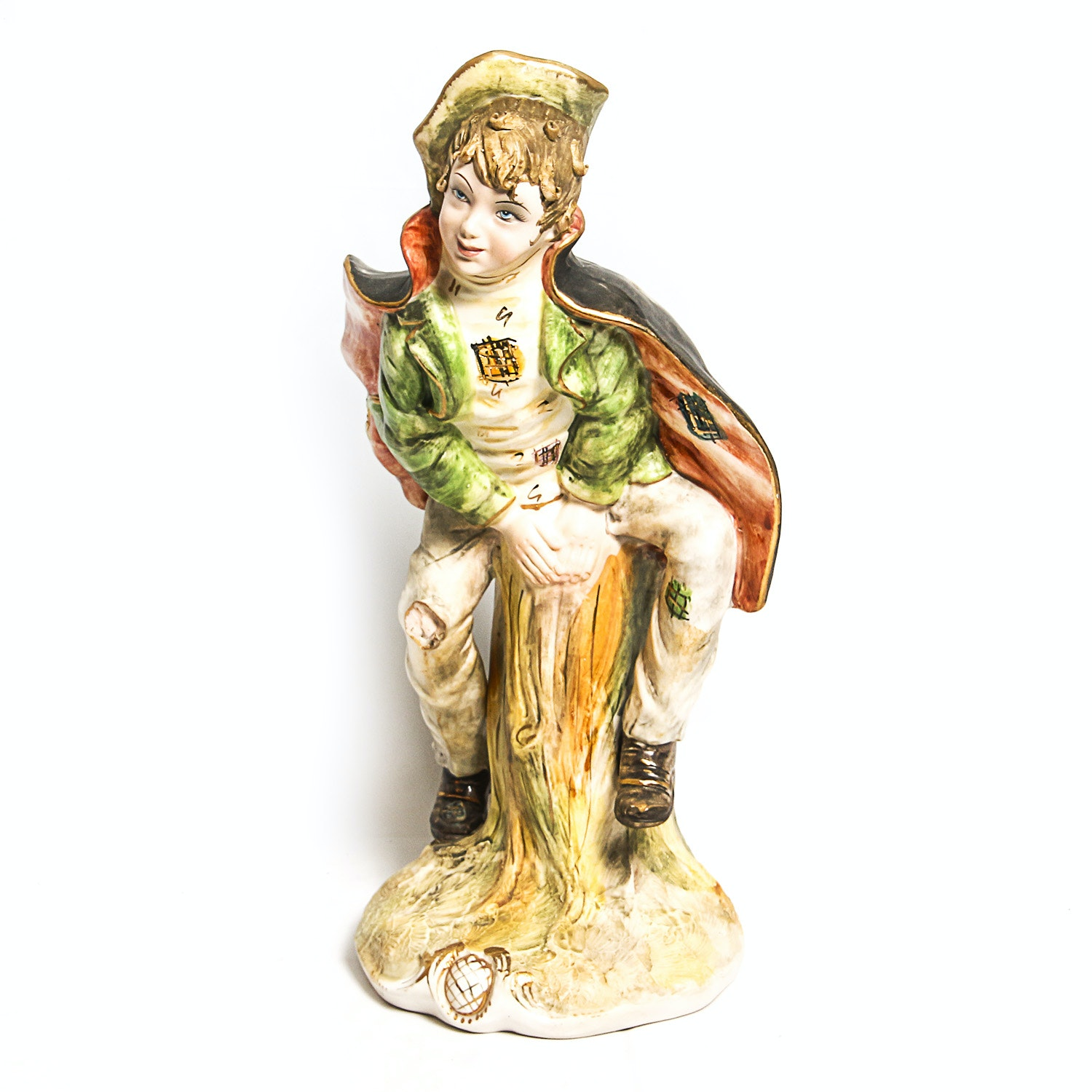 Vintage Italian Hand Painted Figurine of a Boy