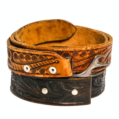 Pair of Vintage Leather Belts