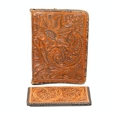 Vintage Leather Binder and Wallet