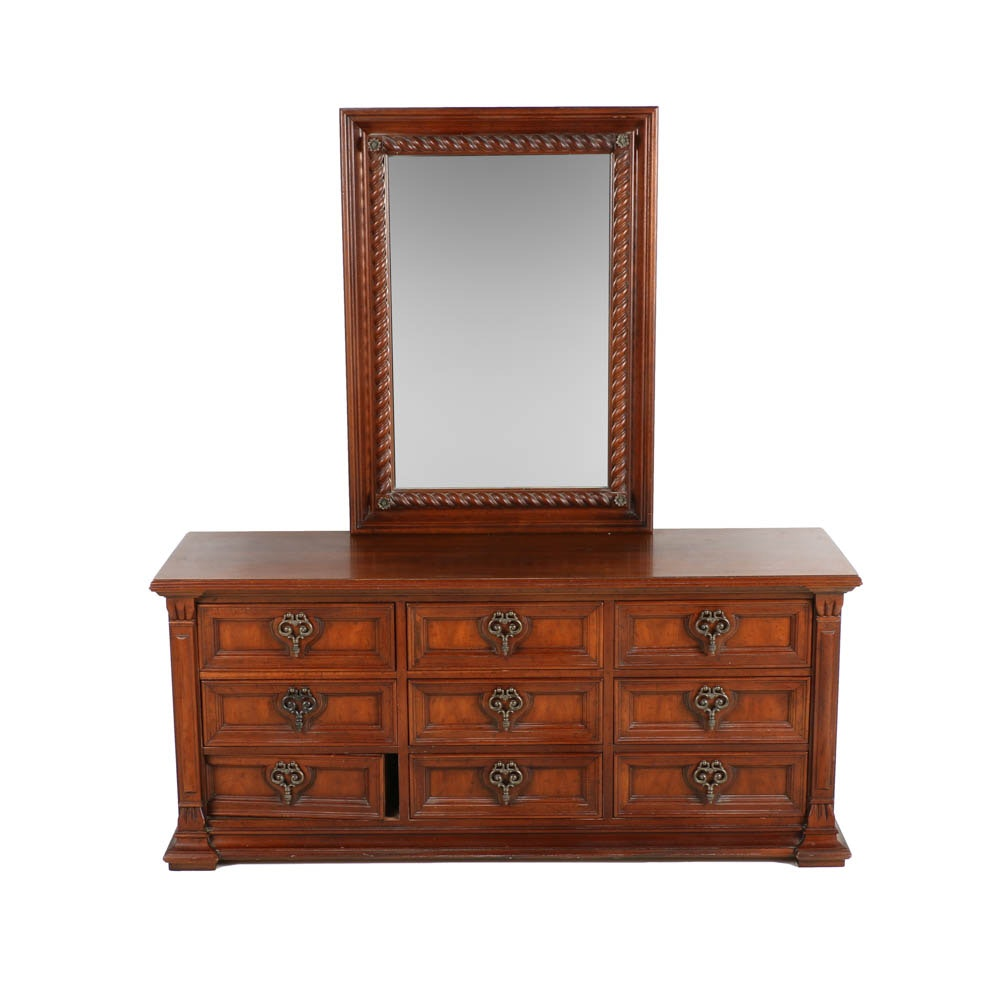 Spanish Revival Inspired Dresser With Mirror