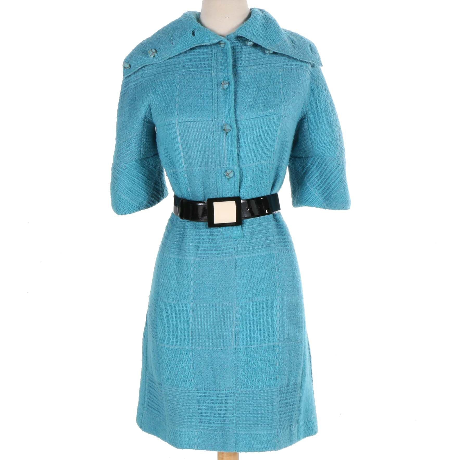 Chanel Blue Knit Dress