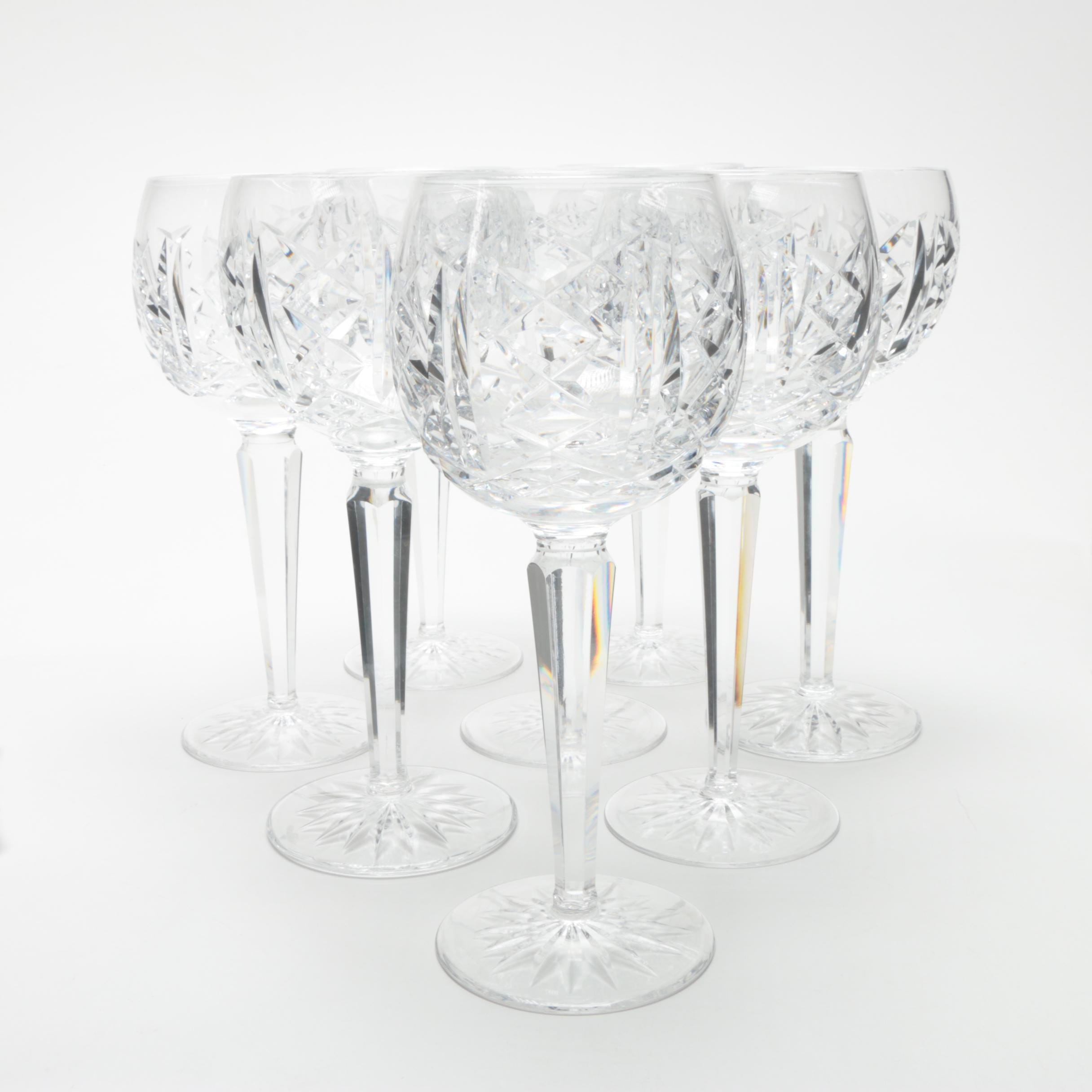"Waterford Crystal ""Glengarriff"" Hock Wine Glasses"