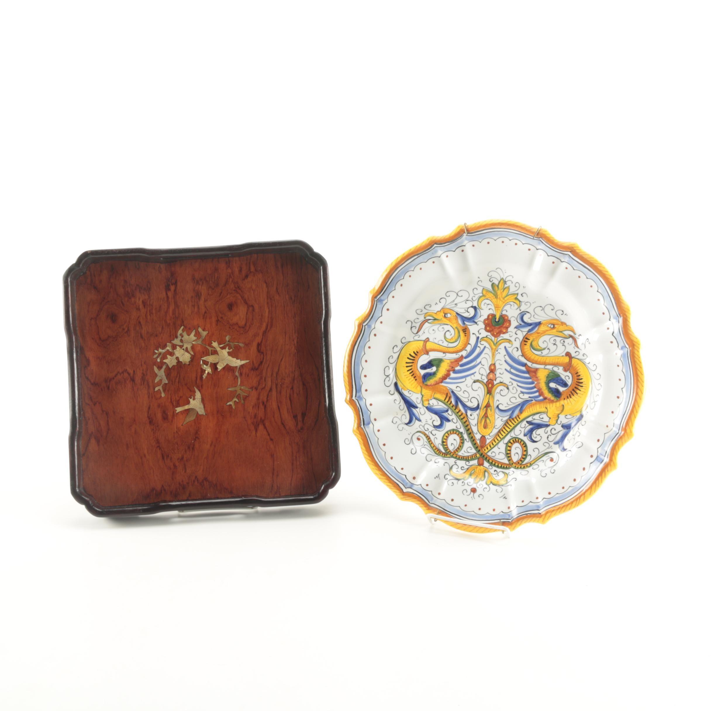 Pair of Decorative Plates Including Deruta
