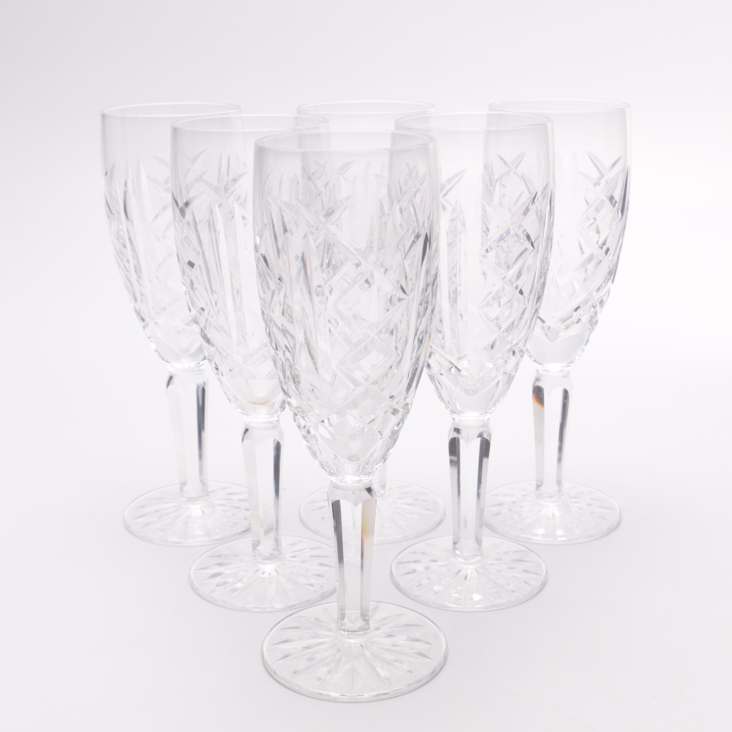 "Waterford Crystal ""Glengarriff"" Champagne Flutes"
