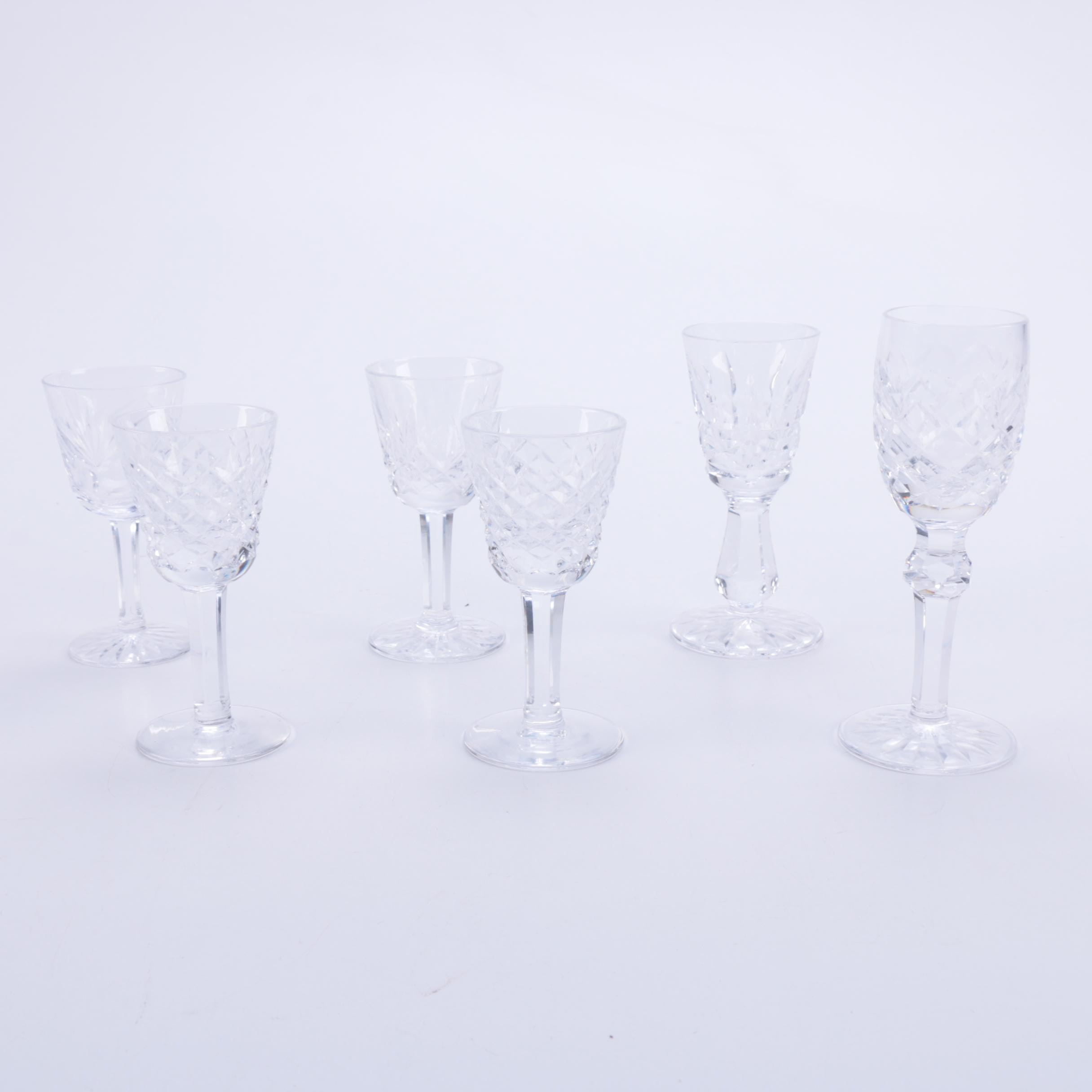 Collection of Waterford Crystal Cordial Glasses