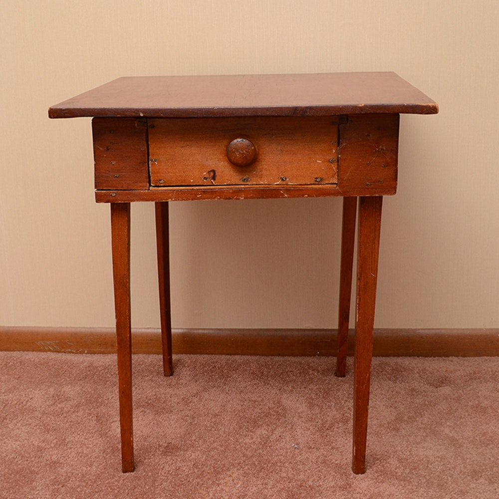 Antique Shaker Style Accent Table