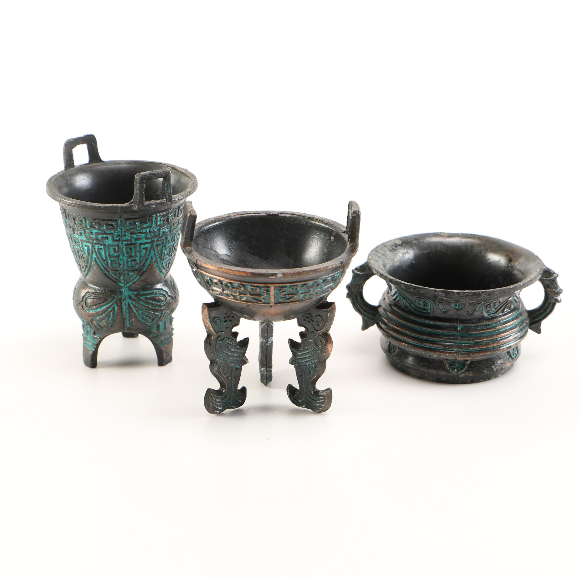 East Asian Inspired Brass Containers