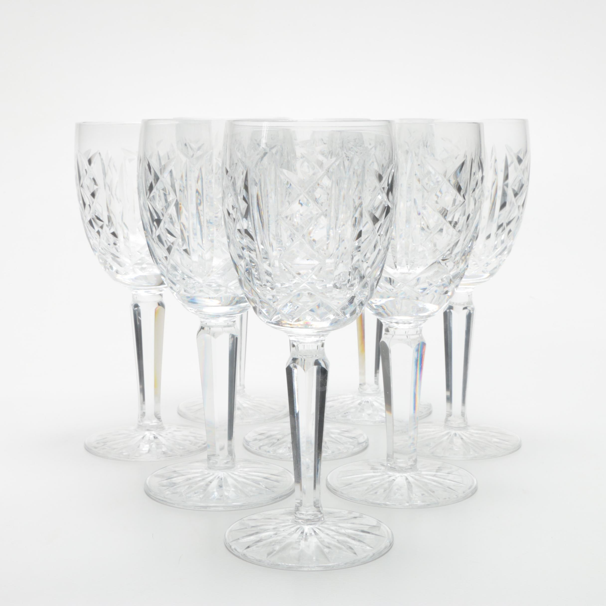 "Waterford Crystal ""Glengarriff"" Claret Glasses"