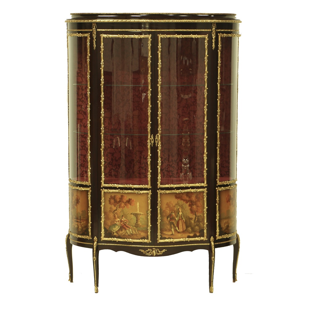 Vernis Martin Style Display Cabinet by Mariner 1893