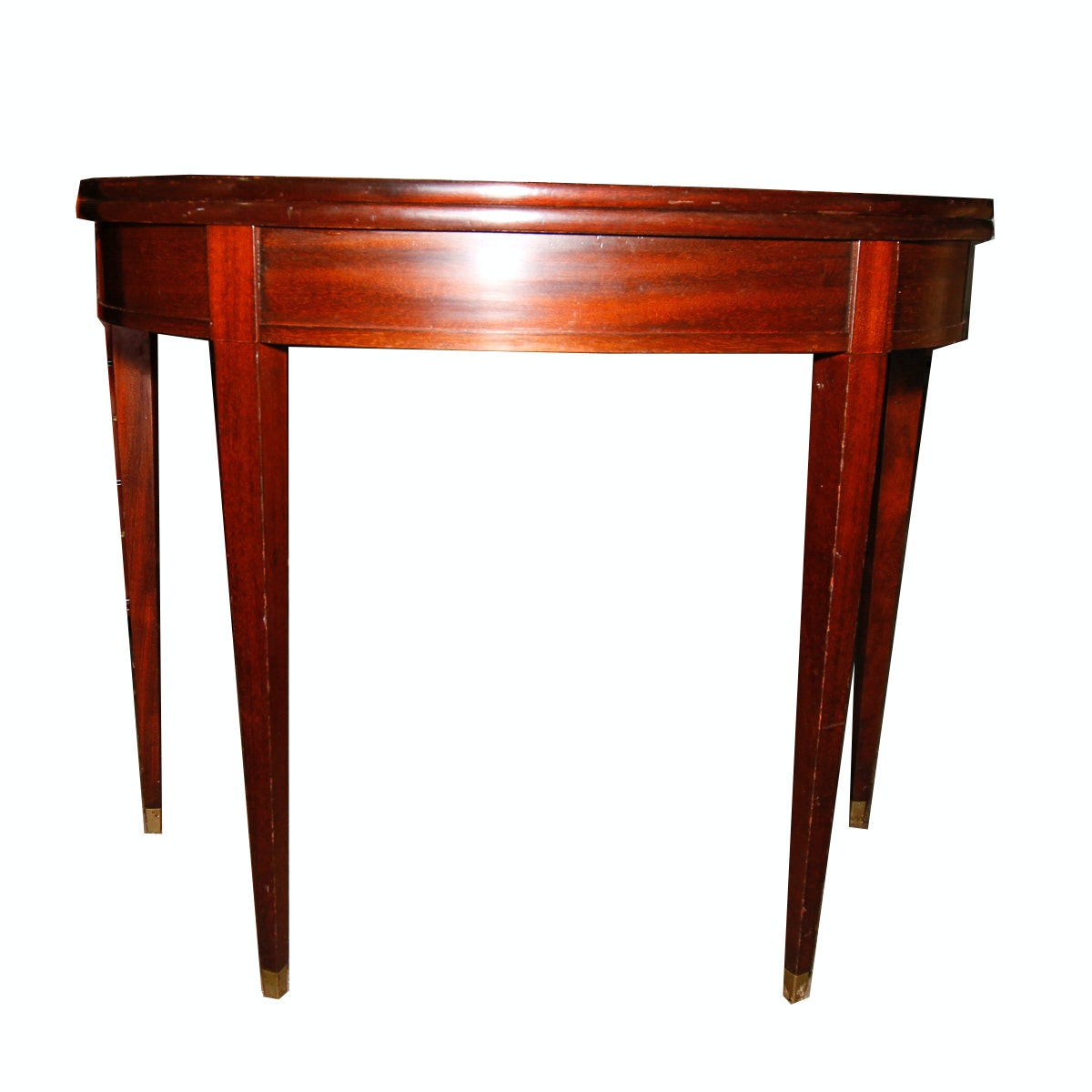 Mahogany Drop Leaf Game or Console Table