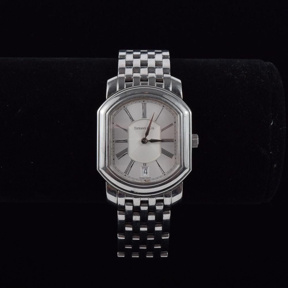 "Tiffany & Co. Stainless Steel ""Small Mark Coupe Resonator Quartz"" Wristwatch"