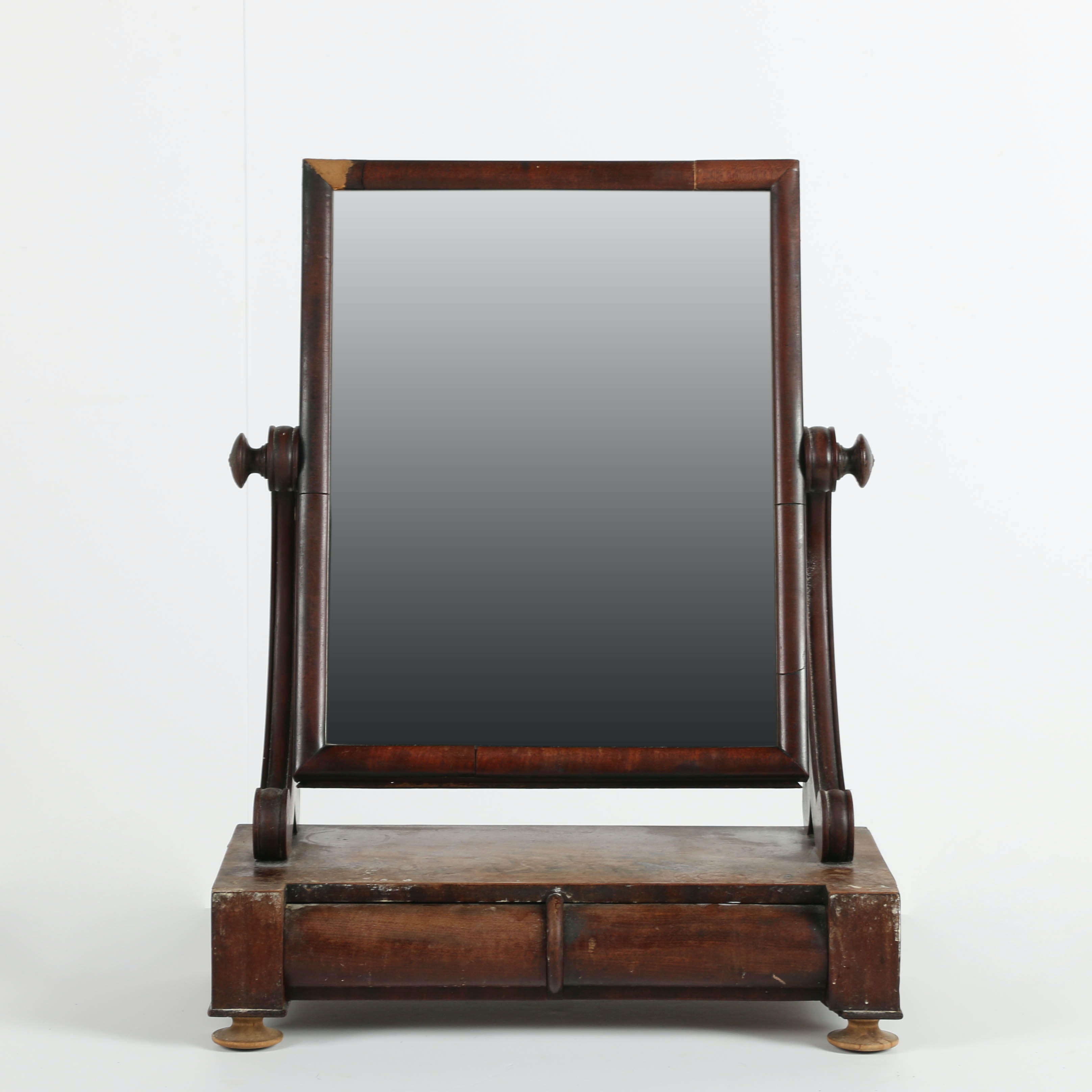 Antique Two-Drawer Shaving Stand With Mirror