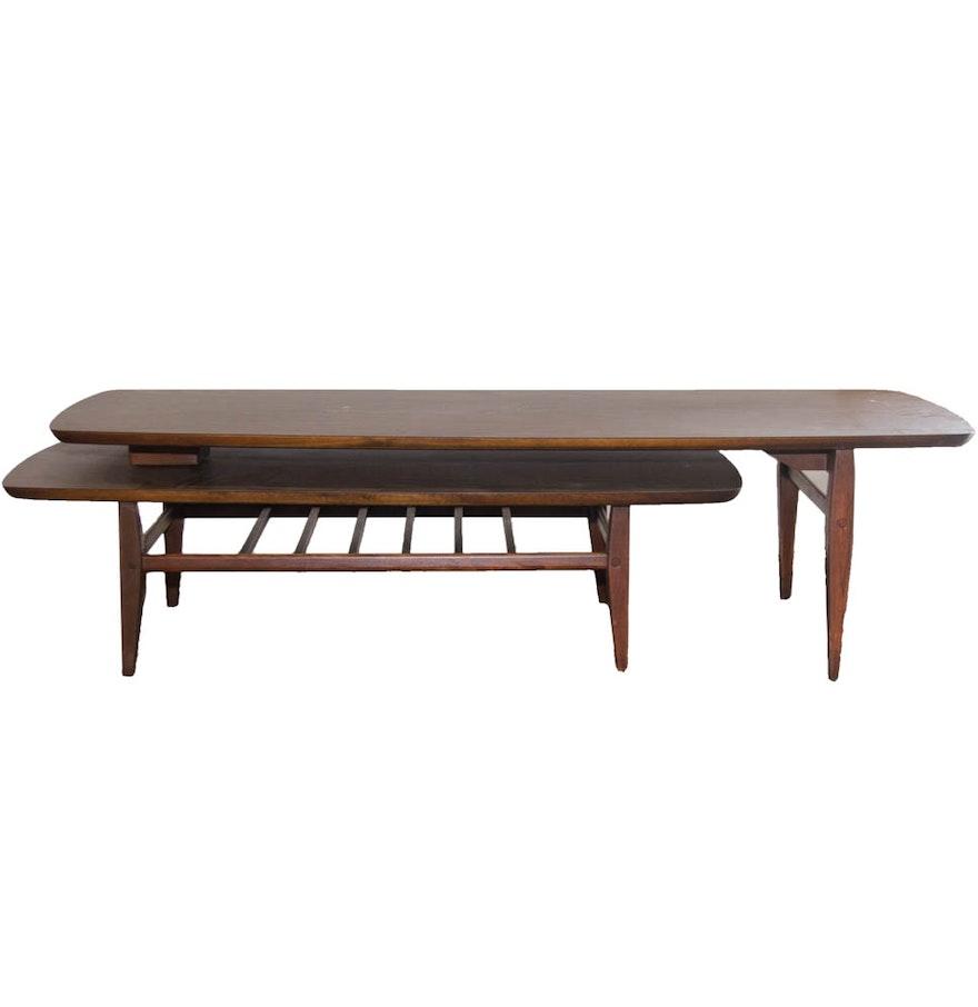 "Mid Century Modern ""Acclaim"" Bi-Level Coffee Table By Lane"