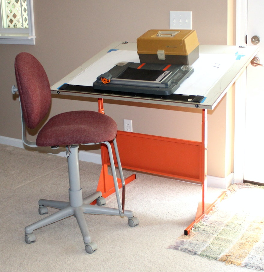 Office chair for drafting table - Mayline Drafting Table And Office Chair