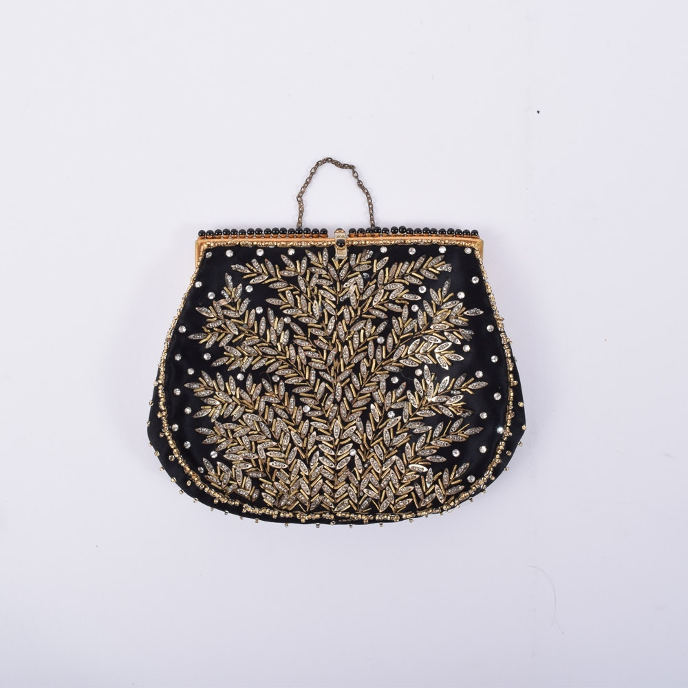 Vintage Hand-Beaded Clutch