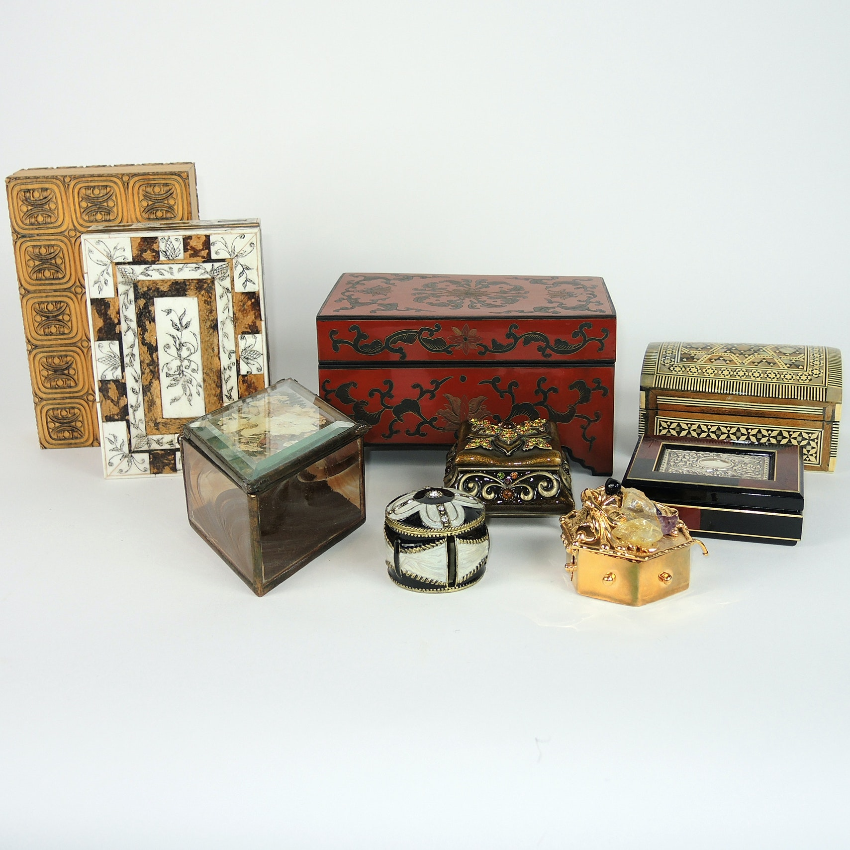 Trinket Boxes Including Mother-of-Pearl