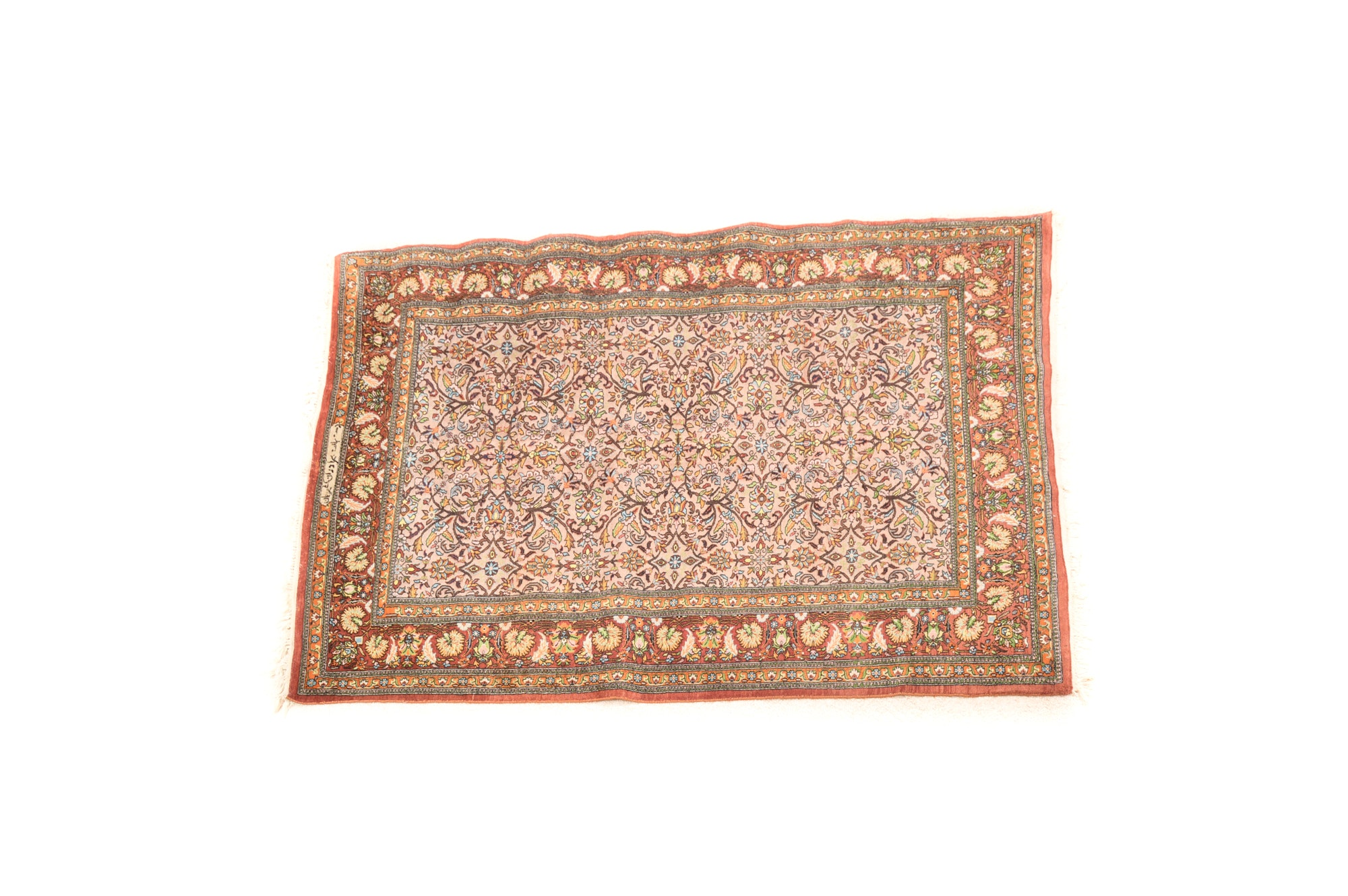 Hand-Knotted Arak Area Rug