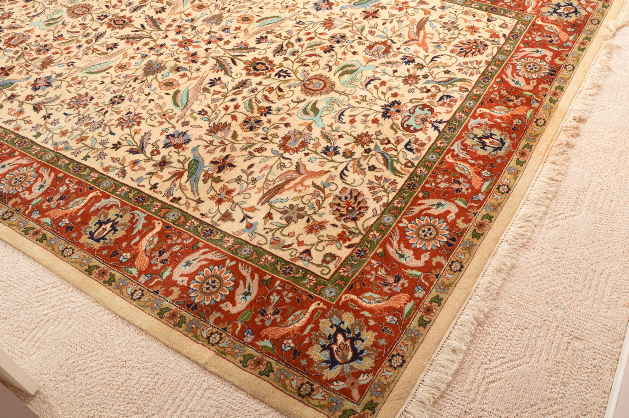 Hand-Knotted Tabriz Area Rug