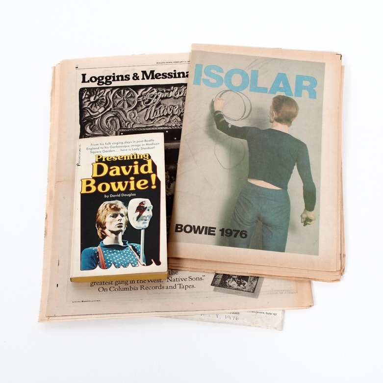 """David Bowie 1976 Isolar Tour Program with """"Rolling Stone"""" Magazine and Book"""