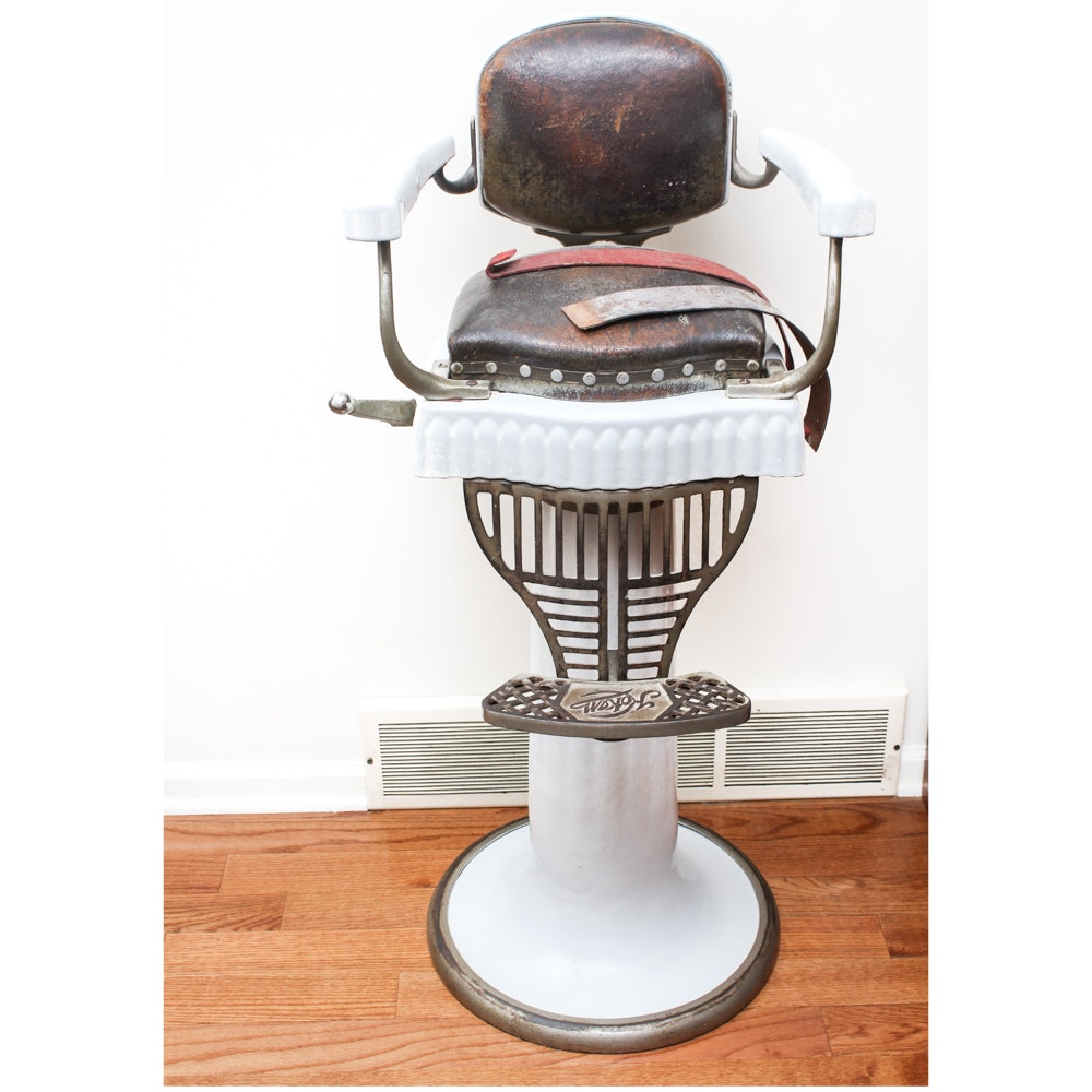Circa 1920s Koken Child Size Barbers Chair