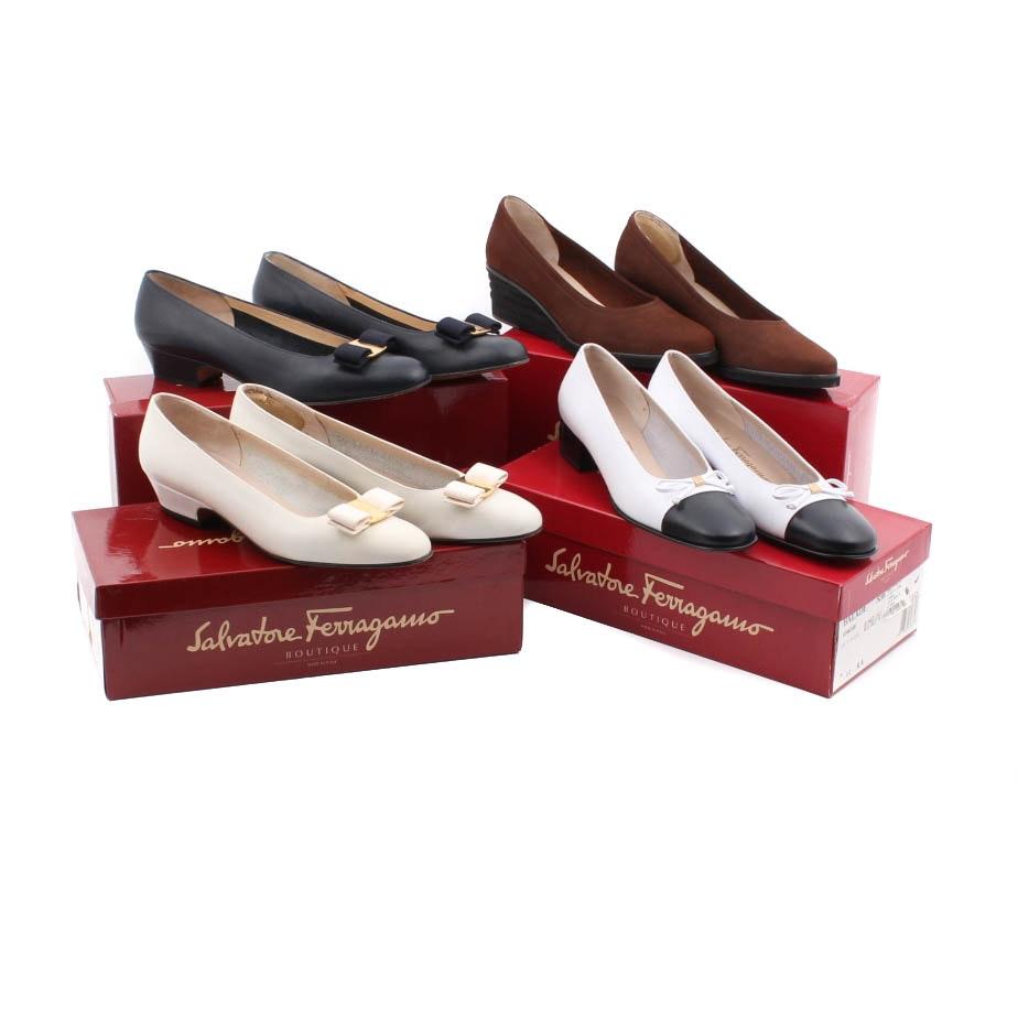 Salvatore Ferragamo Leather Heels