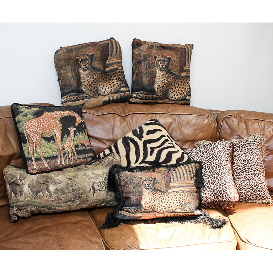 Decorative Animal Print Throw Pillows