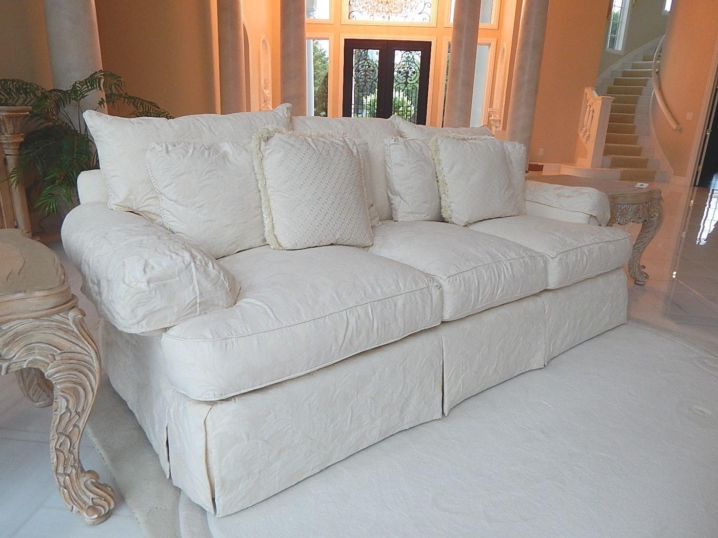 Off White Sofa By Thomasville Ebth