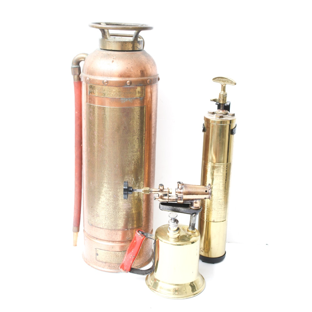 Brass and Copper Fire Extinguishers