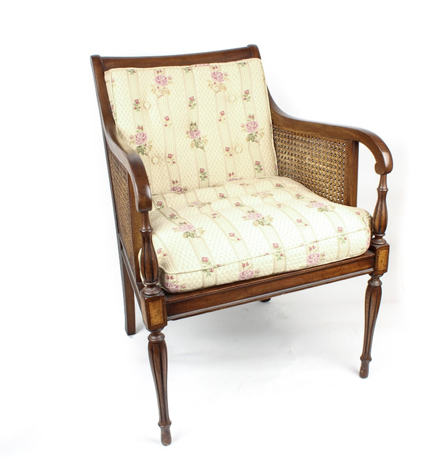 Hickory Chair Vintage Cane Accent Chair By Hickory Chair Company Ebth