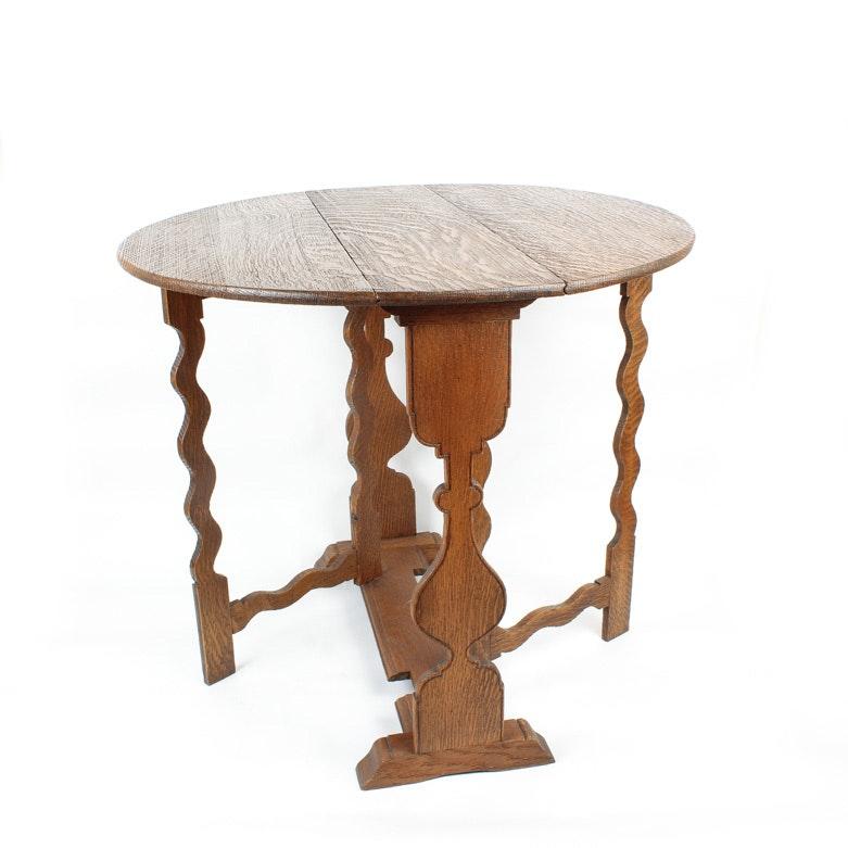 Faux Bois Gateleg Table