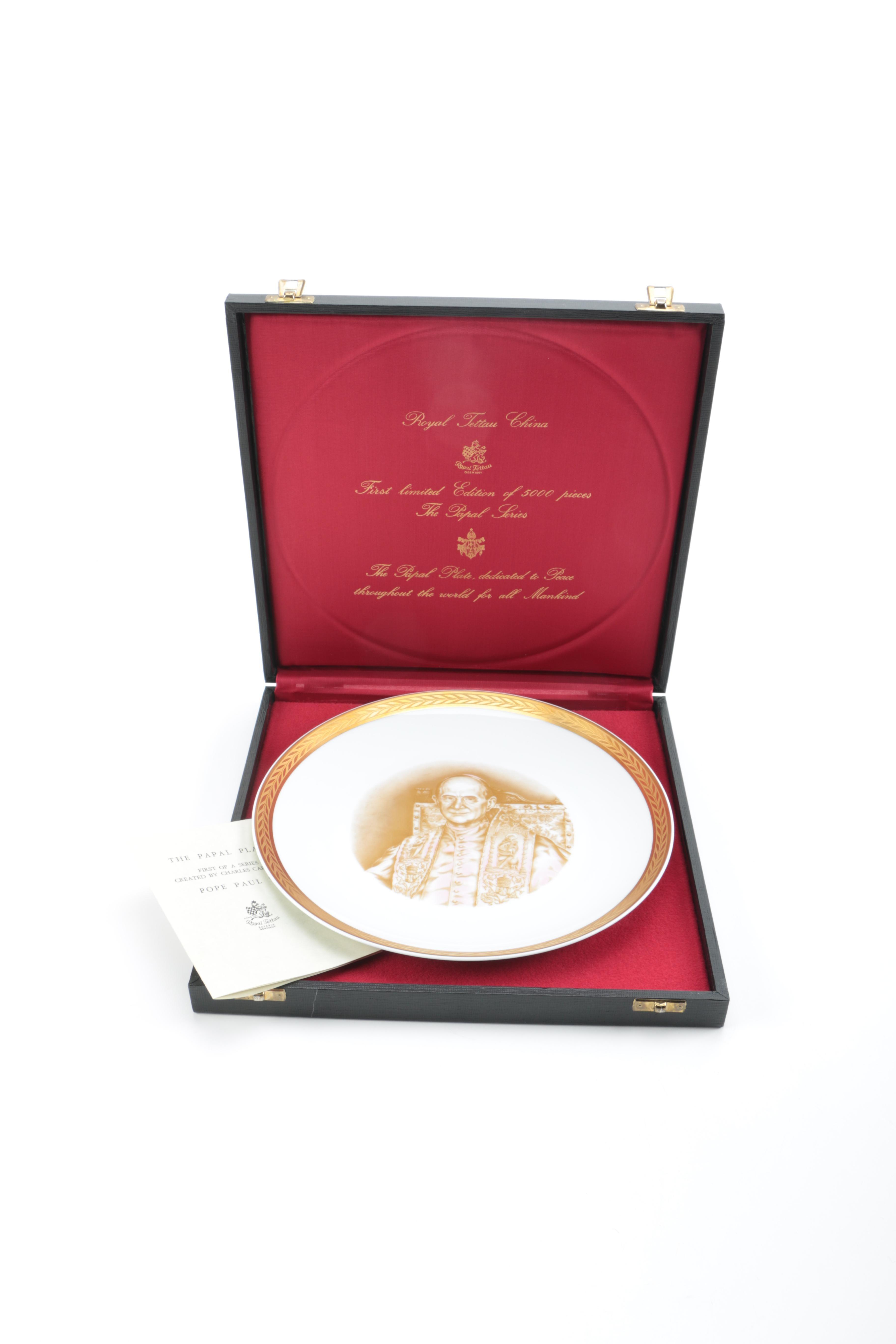 1971 Limited Edition Plate Featuring Pope Paul VI