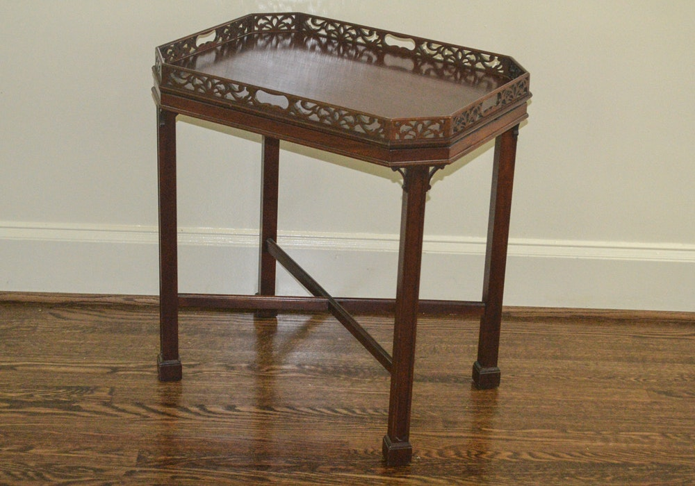 Chippendale Style Tray Table by Williamsburg Tradition House