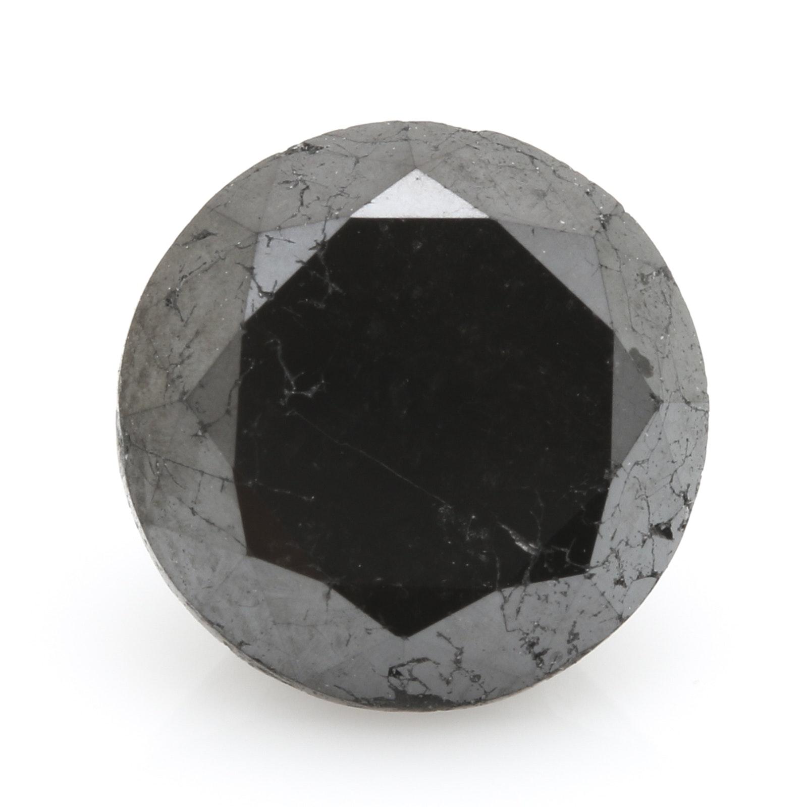 3.94 CT Loose Black Diamond