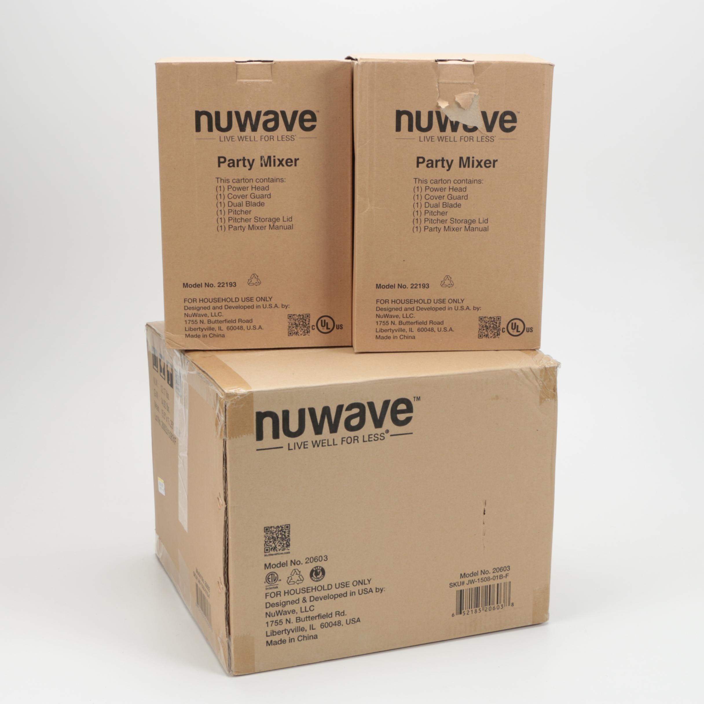 Nuwave Infrared Oven and Party Mixers