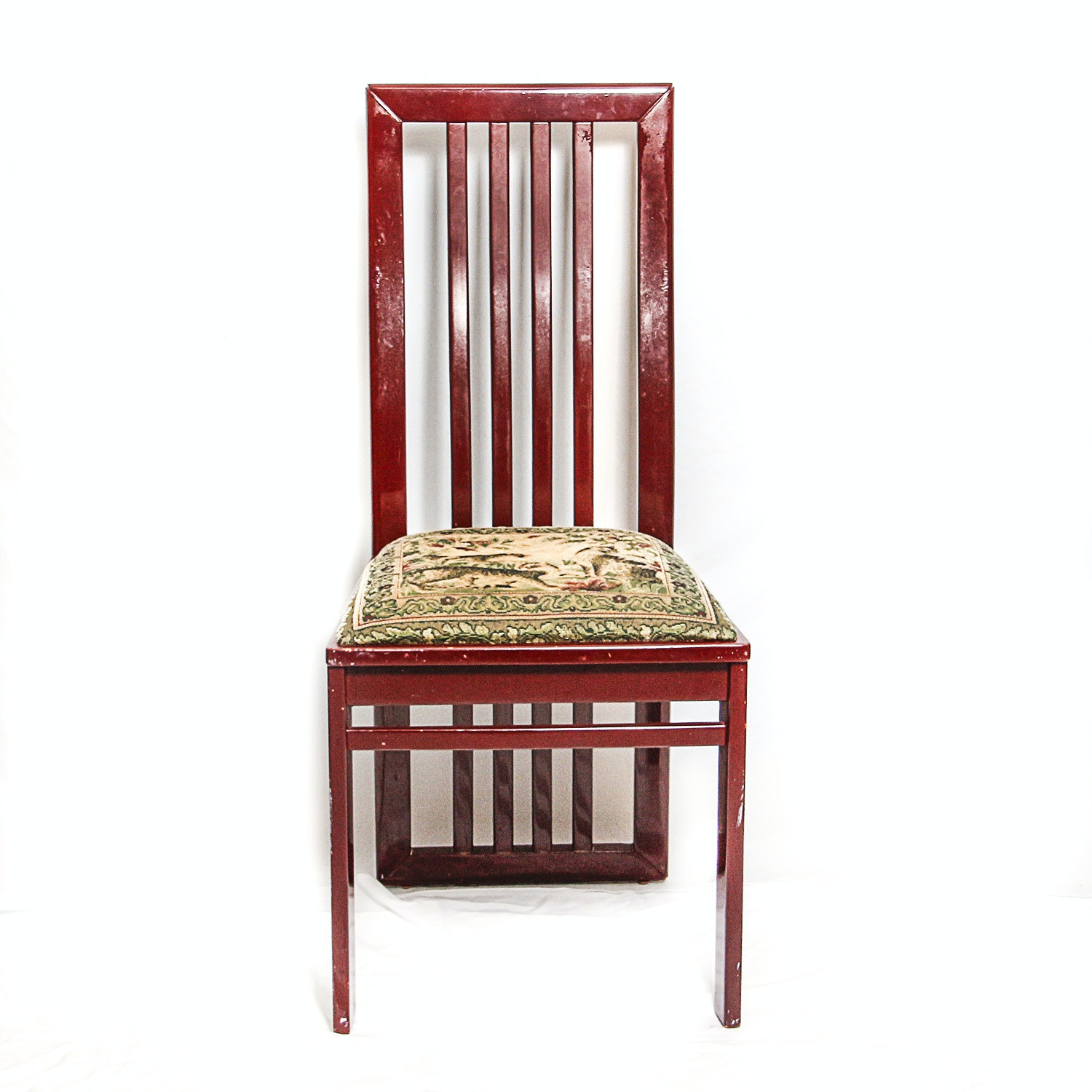 Wooden Chair with Upholstered Seat