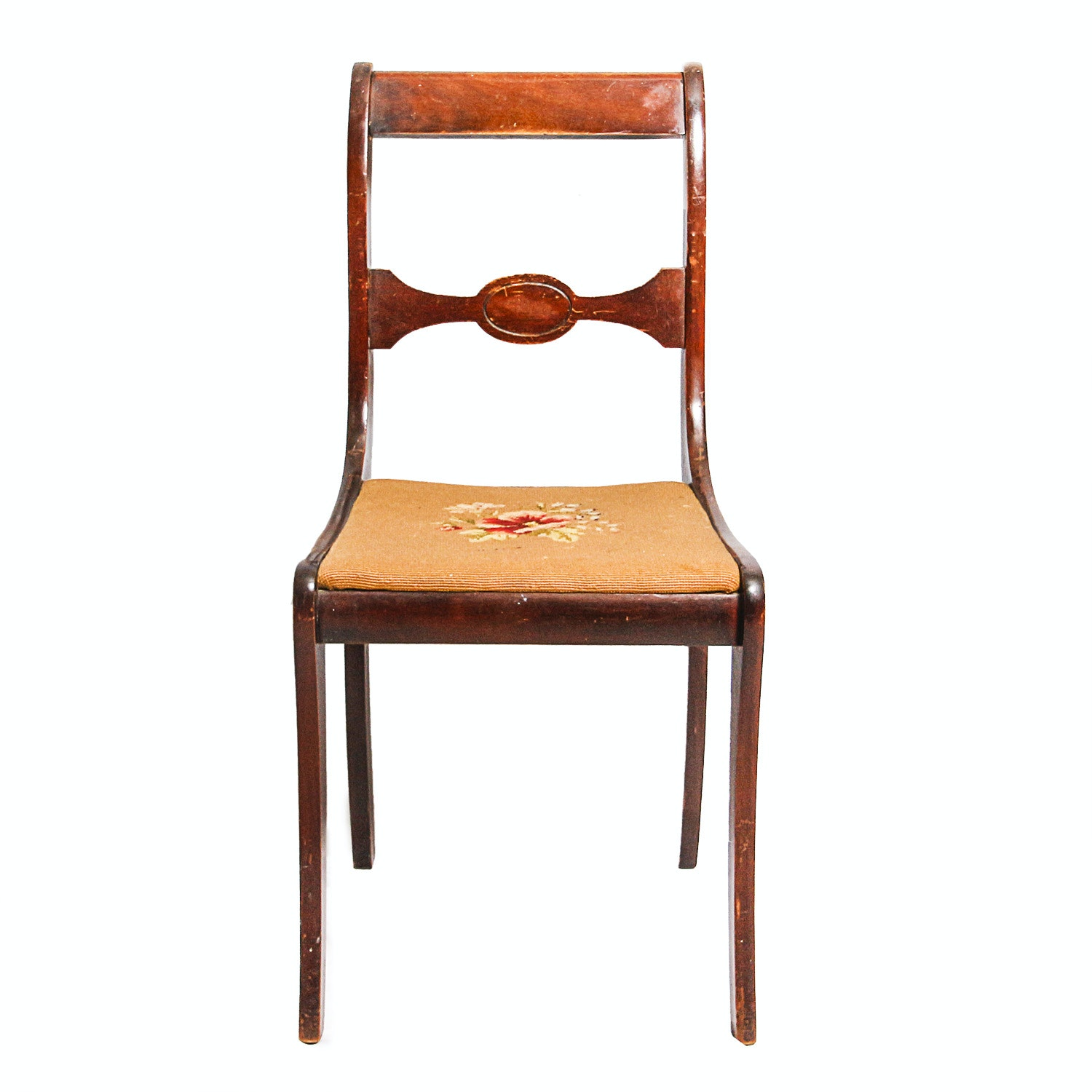 Popular Vintage Wooden Chair with Needlepoint Seat In 2018 - New wooden chair seats In 2018