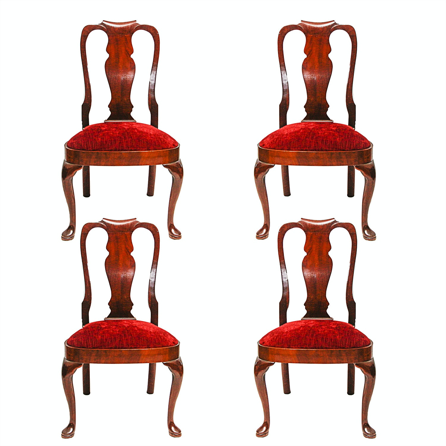 Fiddleback Queen Anne Style Side Chairs