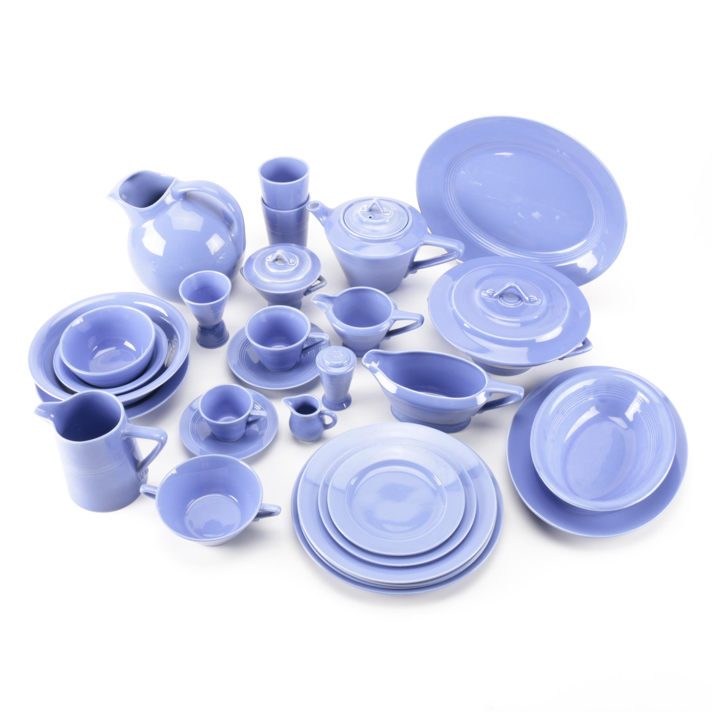 Vintage Harlequin Dinnerware in Blue