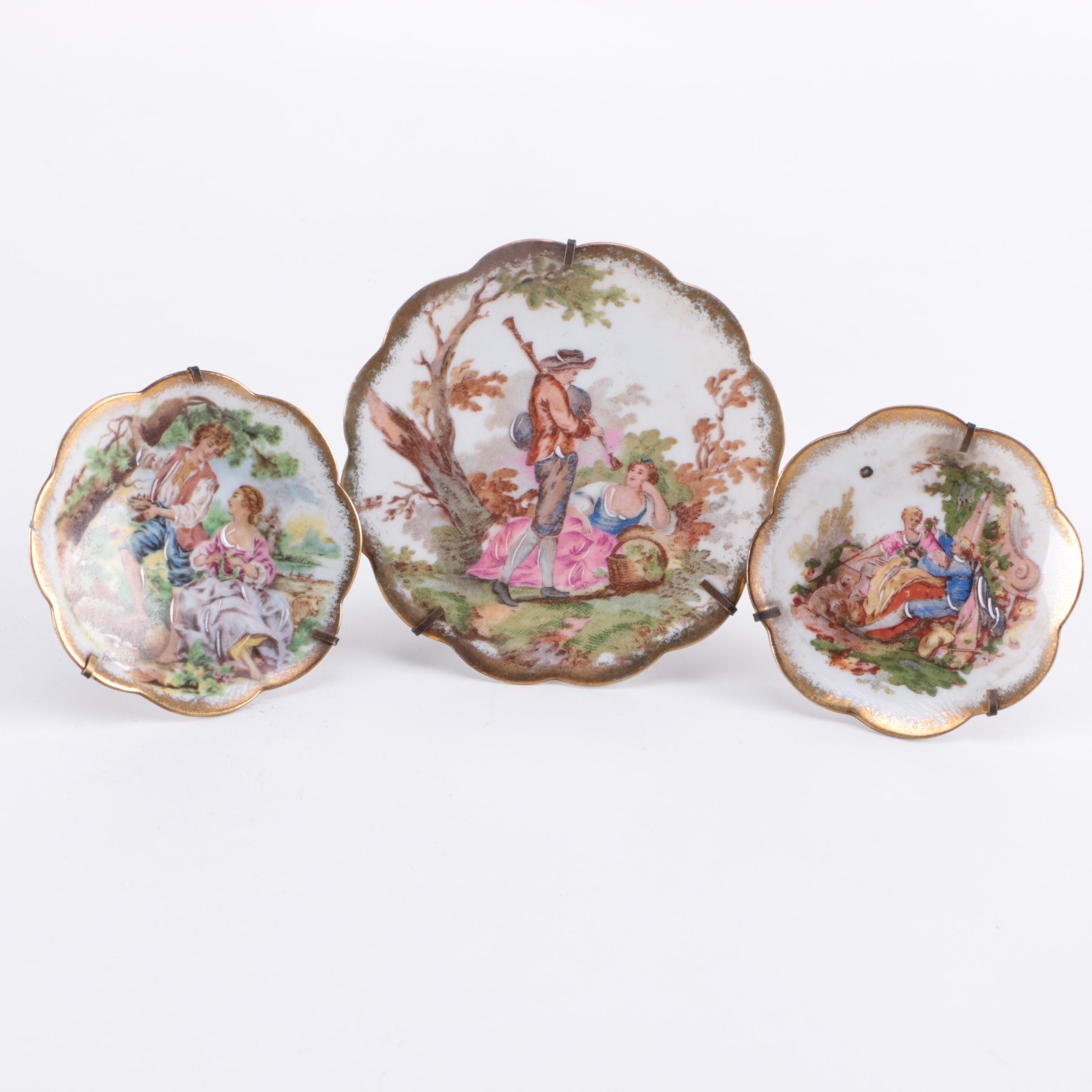 Porcelaine d'Art Decorative Limoges Plates