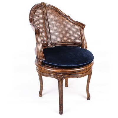 Vintage Cane Club Chair