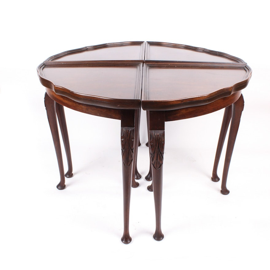 Four-Piece Wood Accent Table