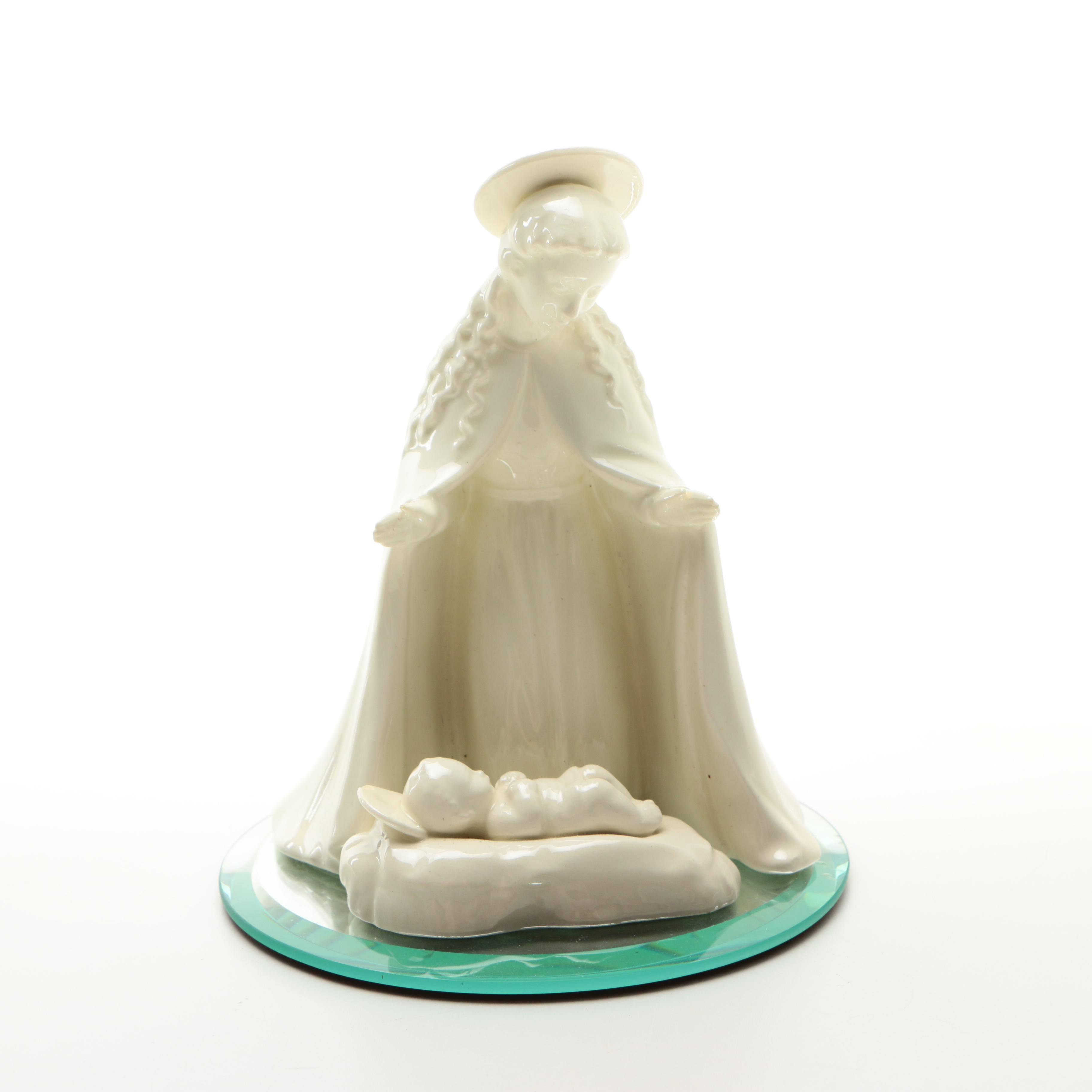 Vintage Hummel White Overglaze Nativity Figurines