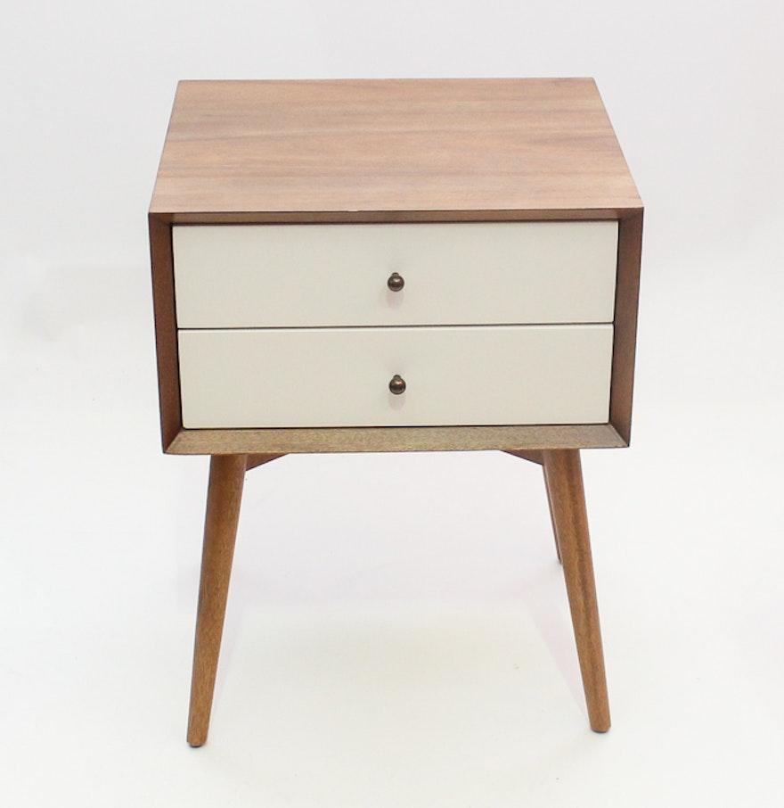 west elm mid century style nightstand ebth. Black Bedroom Furniture Sets. Home Design Ideas