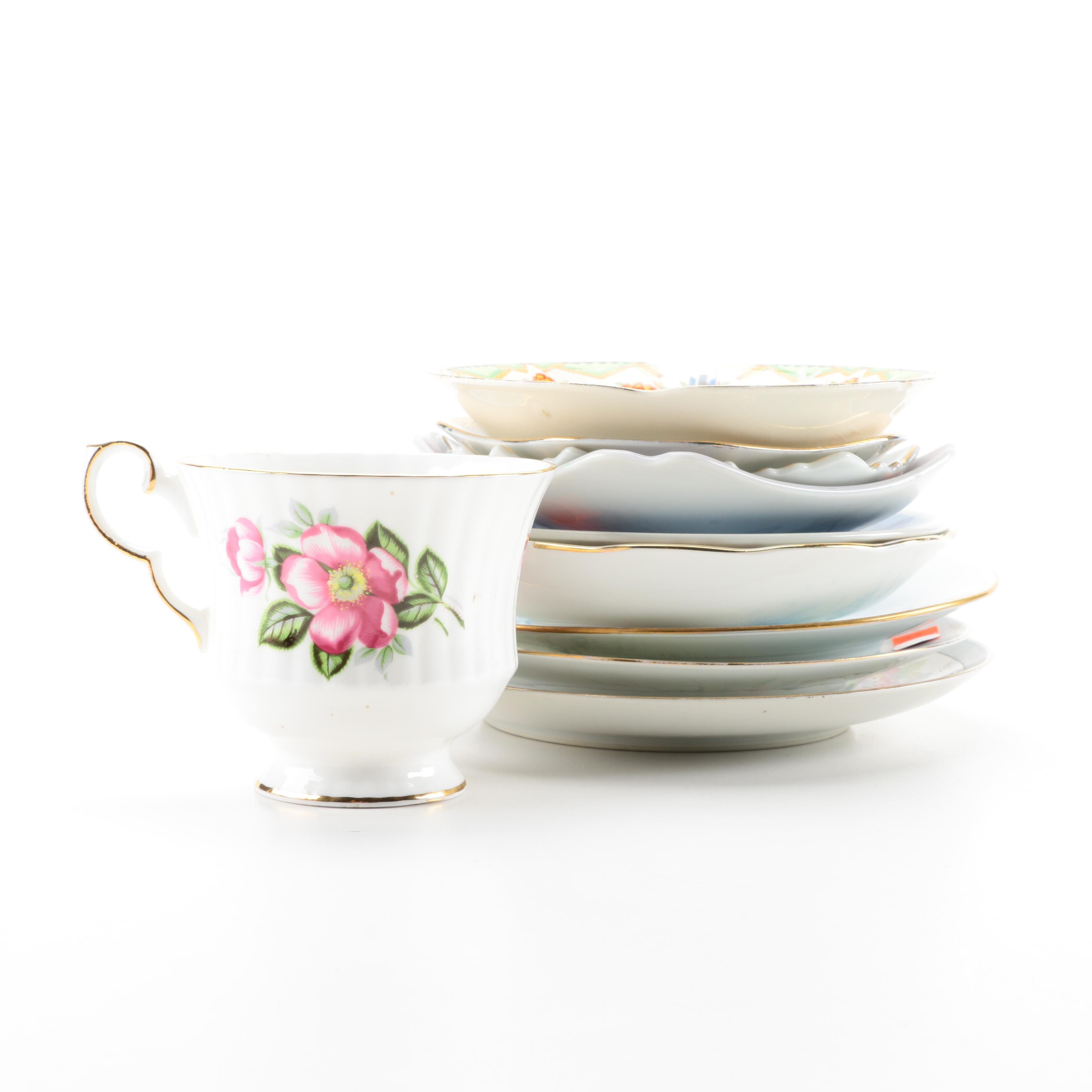 Assorted Saucers and Teacup