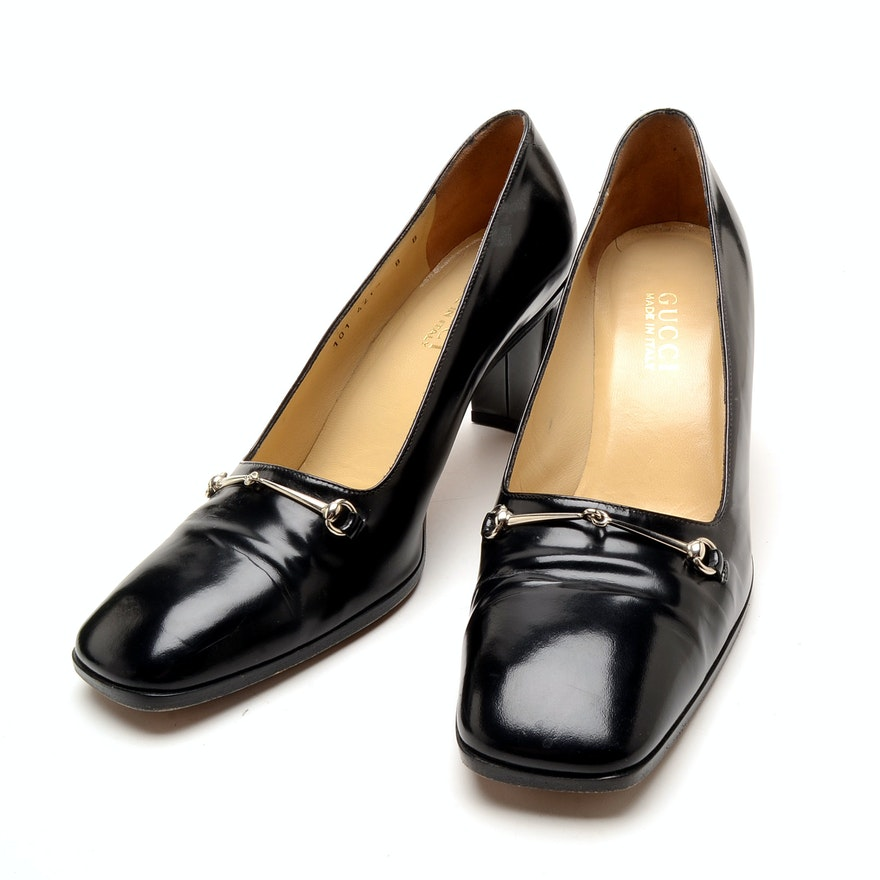 4ae1fe264 Vintage Gucci Heeled Loafers : EBTH