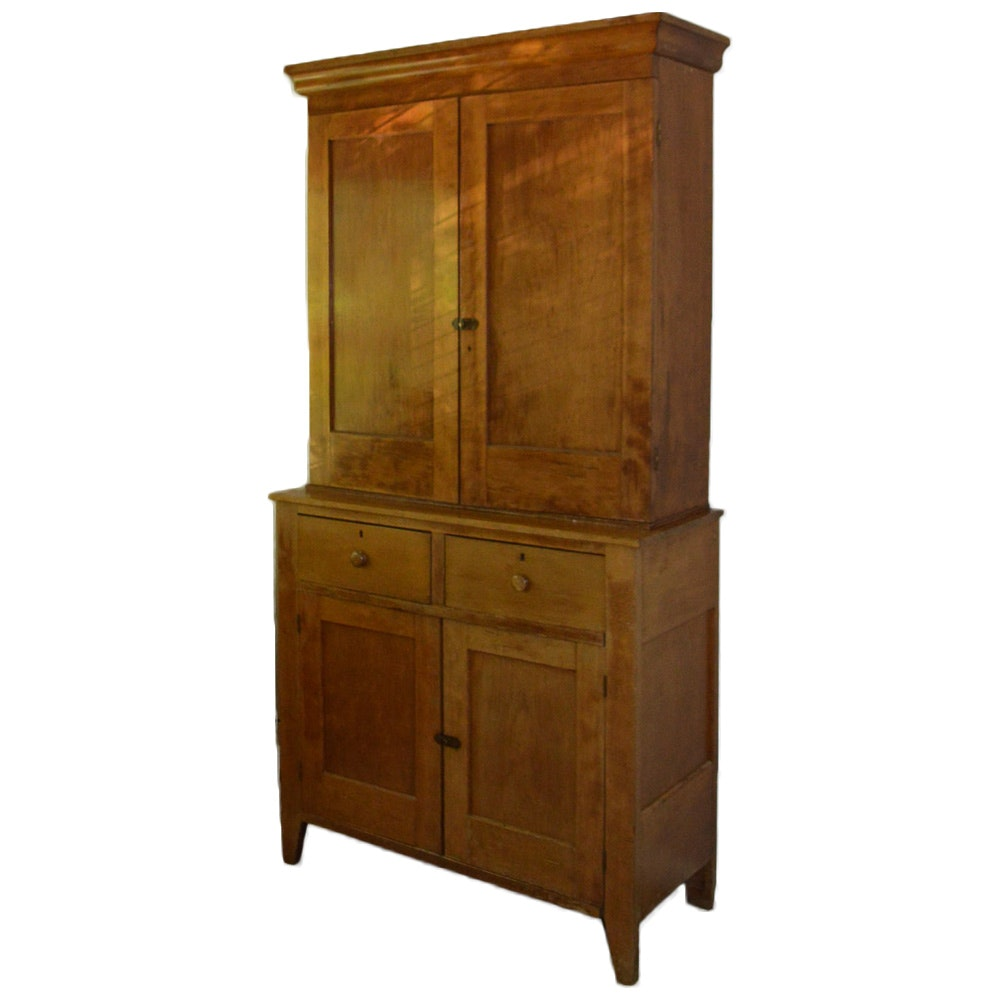 Antique Cherry Shaker Jackson Press Cupboard : EBTH