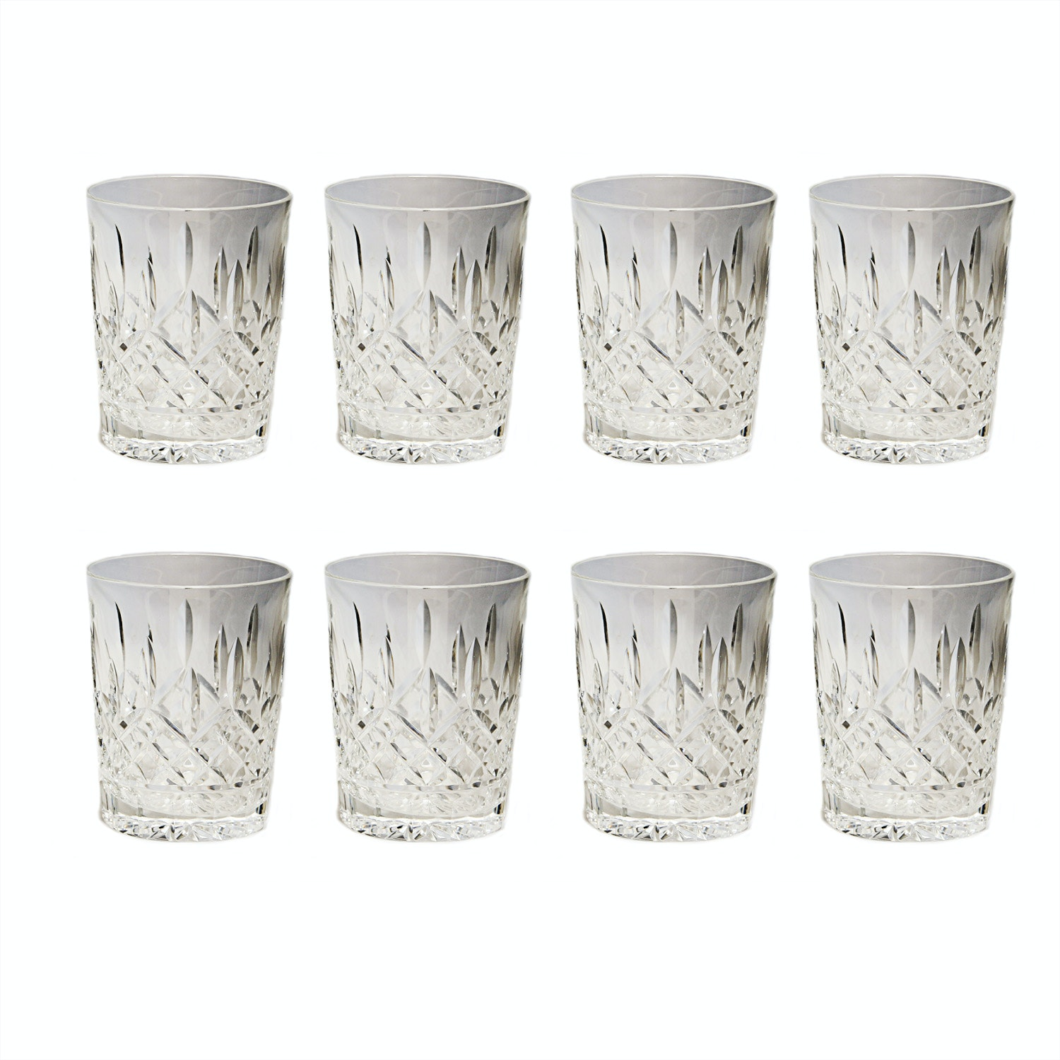 "Waterford Crystal ""Lismore"" Double Old Fashioned Glasses"