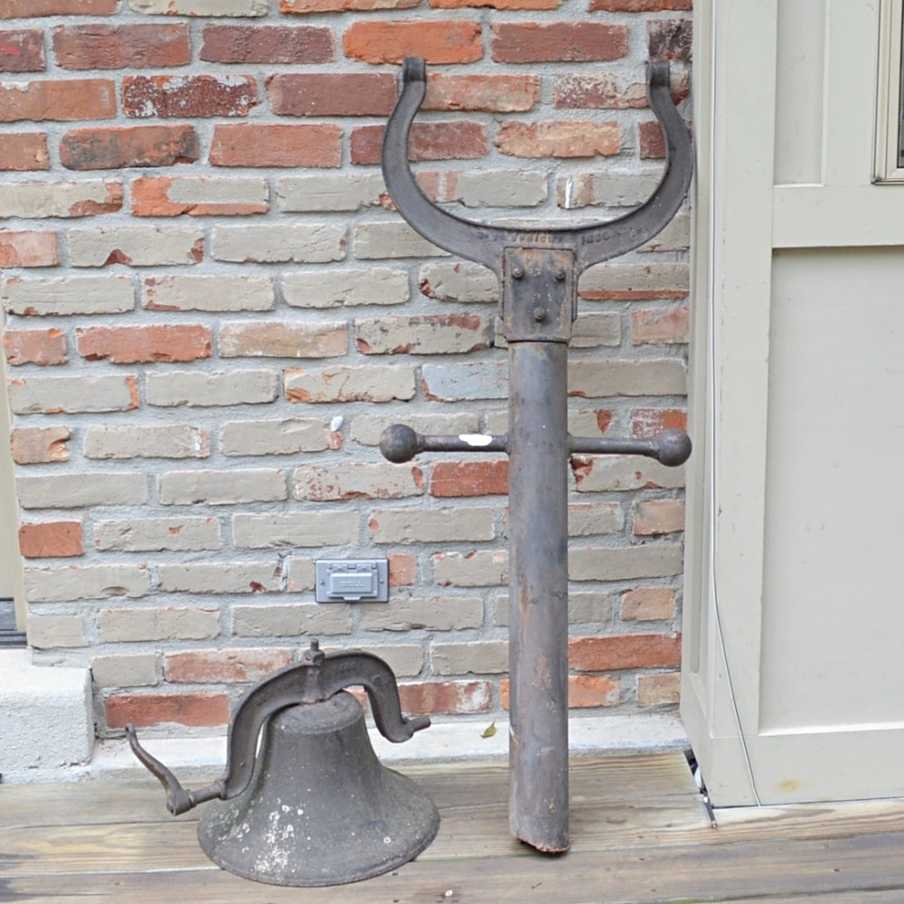 Antique 1886 Cast Iron Dinner Bell