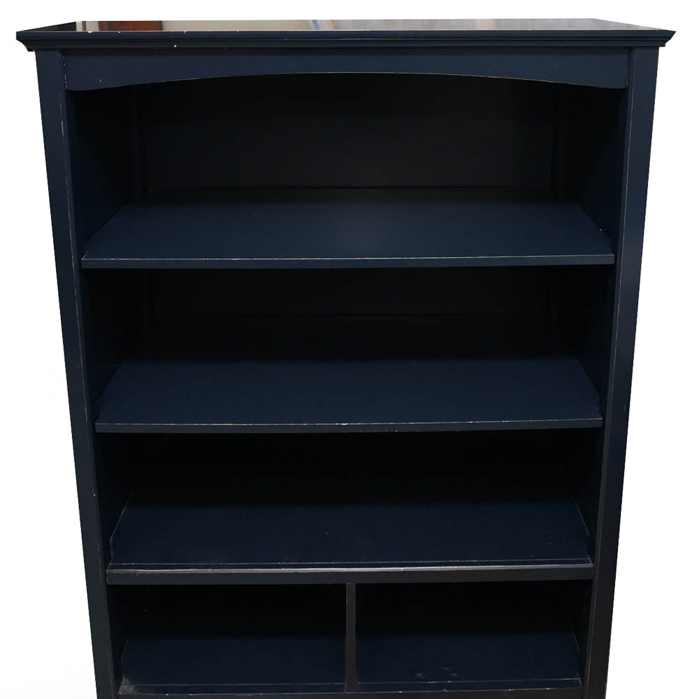 Four-Shelf Blue Bookcase by Haverty's