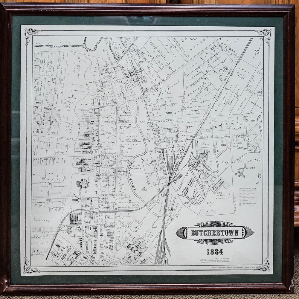 Reproduction 1884 Map of Butchertown